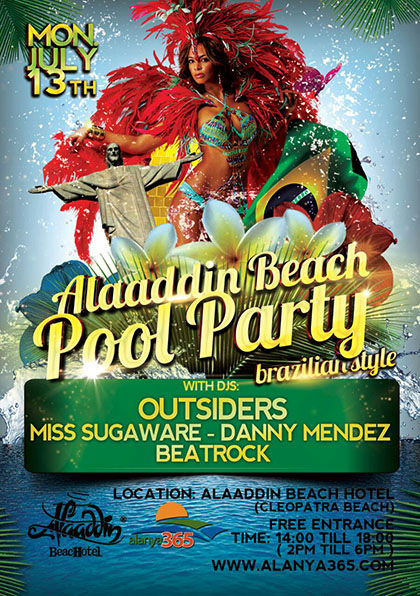 Alaaddin Beach Pool Party
