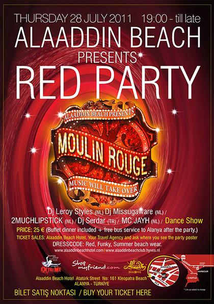 Alaaddin Beach Red Party